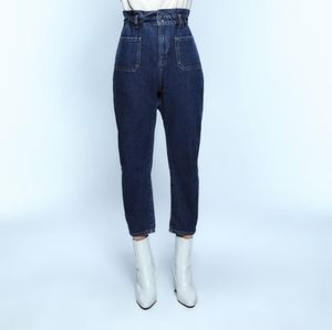 NWT Zara paperbag waist denim
